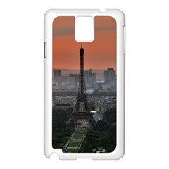 Paris France French Eiffel Tower Samsung Galaxy Note 3 N9005 Case (white)