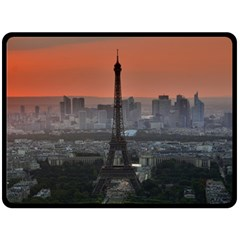 Paris France French Eiffel Tower Double Sided Fleece Blanket (large)