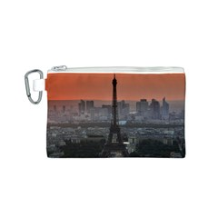 Paris France French Eiffel Tower Canvas Cosmetic Bag (s)