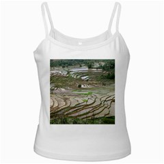 Rice Fields Terraced Terrace White Spaghetti Tank