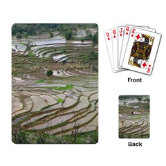 Rice Fields Terraced Terrace Playing Card