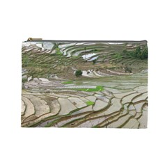 Rice Fields Terraced Terrace Cosmetic Bag (large)