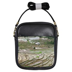 Rice Fields Terraced Terrace Girls Sling Bags