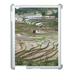 Rice Fields Terraced Terrace Apple iPad 3/4 Case (White) Front