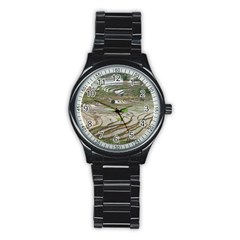 Rice Fields Terraced Terrace Stainless Steel Round Watch