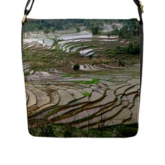 Rice Fields Terraced Terrace Flap Messenger Bag (l)
