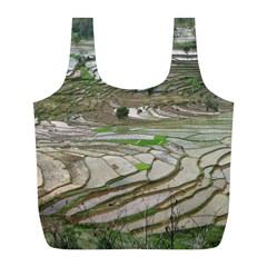 Rice Fields Terraced Terrace Full Print Recycle Bags (l)