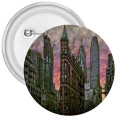 Flat Iron Building Toronto Ontario 3  Buttons