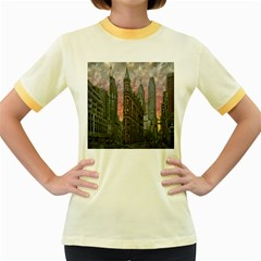 Flat Iron Building Toronto Ontario Women s Fitted Ringer T Shirts