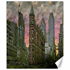 Flat Iron Building Toronto Ontario Canvas 8  X 10
