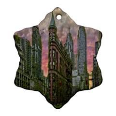 Flat Iron Building Toronto Ontario Ornament (snowflake)
