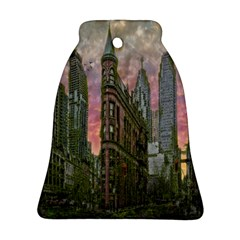 Flat Iron Building Toronto Ontario Bell Ornament (two Sides)