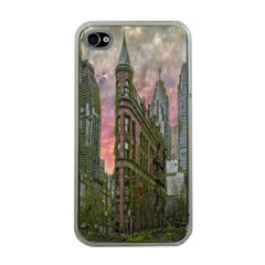 Flat Iron Building Toronto Ontario Apple Iphone 4 Case (clear)
