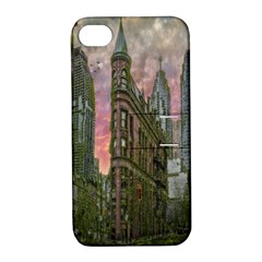 Flat Iron Building Toronto Ontario Apple Iphone 4/4s Hardshell Case With Stand