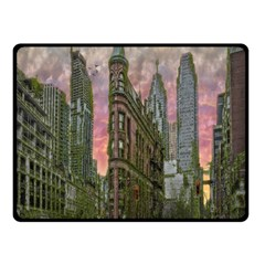 Flat Iron Building Toronto Ontario Double Sided Fleece Blanket (small)