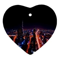 Dubai Cityscape Emirates Travel Ornament (heart)