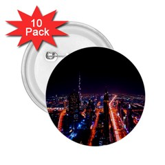Dubai Cityscape Emirates Travel 2 25  Buttons (10 Pack)