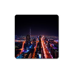 Dubai Cityscape Emirates Travel Square Magnet