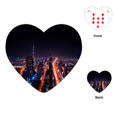 Dubai Cityscape Emirates Travel Playing Cards (heart)