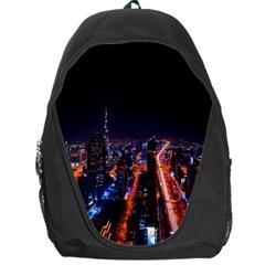 Dubai Cityscape Emirates Travel Backpack Bag