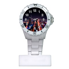 Dubai Cityscape Emirates Travel Plastic Nurses Watch