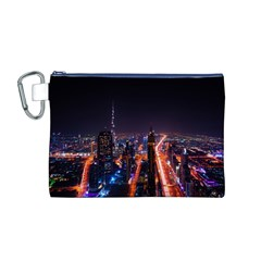Dubai Cityscape Emirates Travel Canvas Cosmetic Bag (m)