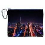 Dubai Cityscape Emirates Travel Canvas Cosmetic Bag (XXL) Front