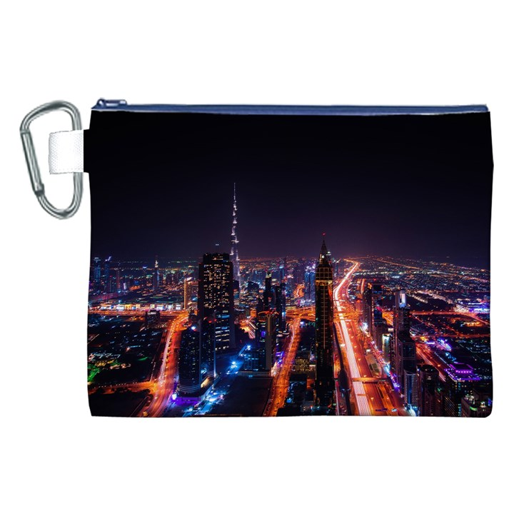 Dubai Cityscape Emirates Travel Canvas Cosmetic Bag (XXL)