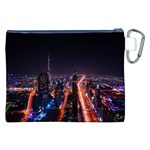 Dubai Cityscape Emirates Travel Canvas Cosmetic Bag (XXL) Back
