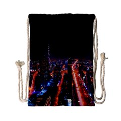 Dubai Cityscape Emirates Travel Drawstring Bag (small)