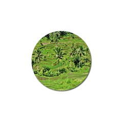 Greenery Paddy Fields Rice Crops Golf Ball Marker (4 Pack)