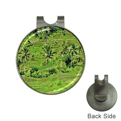 Greenery Paddy Fields Rice Crops Hat Clips With Golf Markers