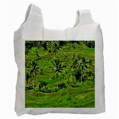 Greenery Paddy Fields Rice Crops Recycle Bag (one Side)