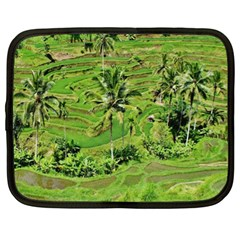 Greenery Paddy Fields Rice Crops Netbook Case (xl)