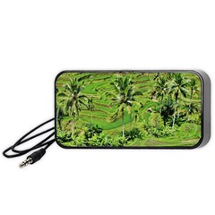 Greenery Paddy Fields Rice Crops Portable Speaker (black)