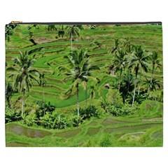 Greenery Paddy Fields Rice Crops Cosmetic Bag (xxxl)