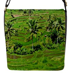 Greenery Paddy Fields Rice Crops Flap Messenger Bag (s)