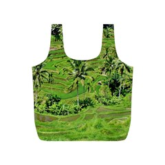 Greenery Paddy Fields Rice Crops Full Print Recycle Bags (s)