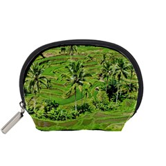 Greenery Paddy Fields Rice Crops Accessory Pouches (small)