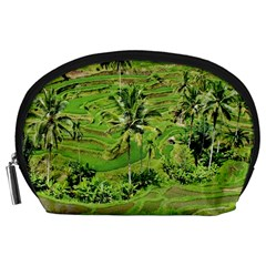 Greenery Paddy Fields Rice Crops Accessory Pouches (large)