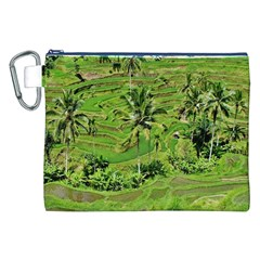Greenery Paddy Fields Rice Crops Canvas Cosmetic Bag (xxl)