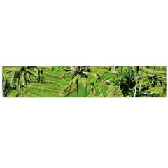 Greenery Paddy Fields Rice Crops Flano Scarf (large)