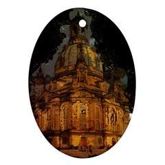Dresden Frauenkirche Church Saxony Ornament (oval)