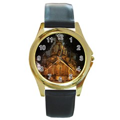 Dresden Frauenkirche Church Saxony Round Gold Metal Watch