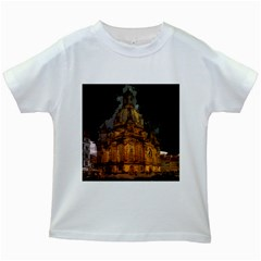 Dresden Frauenkirche Church Saxony Kids White T Shirts