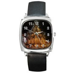 Dresden Frauenkirche Church Saxony Square Metal Watch
