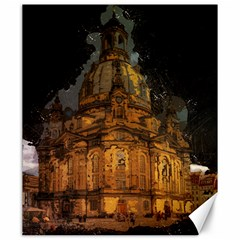 Dresden Frauenkirche Church Saxony Canvas 20  X 24