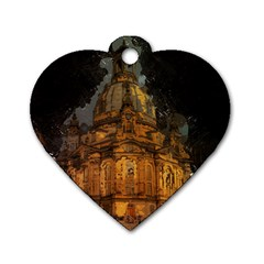 Dresden Frauenkirche Church Saxony Dog Tag Heart (two Sides)