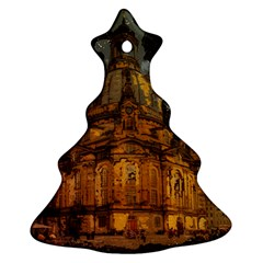 Dresden Frauenkirche Church Saxony Christmas Tree Ornament (two Sides)