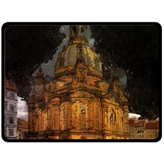 Dresden Frauenkirche Church Saxony Double Sided Fleece Blanket (large)